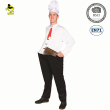 A white chef coat uniform cosplay carnival costume adult chef costumes