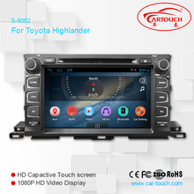 best selling car gps navigation in dash android car dvd player for Toyota Highlander 2015- 2016
