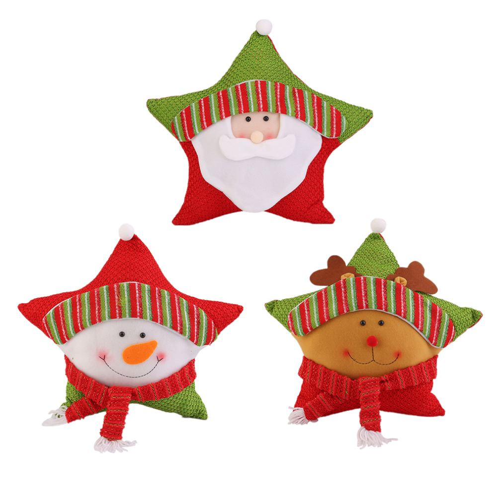 3 Types Christmas Candy Five-star Pillow Christmas Holiday Decorations Commodity For Christmas Party Festival Accessories