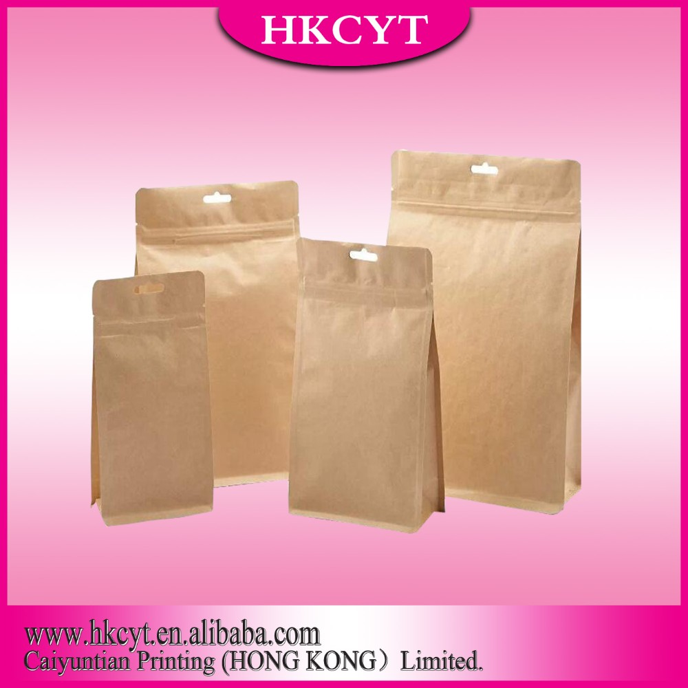 High quality paper doypack bag with zipper