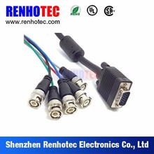 Pin Type DB9 to 2 3 4 5 Male BNC Coaxial Connectors Terminal Cable