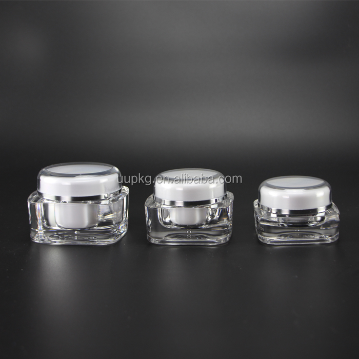 UU packaging square 50ml cosmetic cream jar