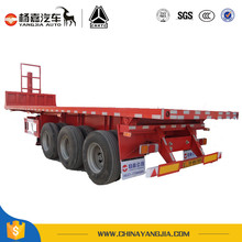 New Condition 20ft Low Flatbed Container Semi Trailer For Transport
