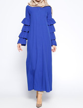 WS2077 Muslim Women Colorful Dress Turkish Islamic Clothing Wholesale