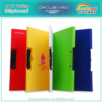 Hard & Eco-friendly PP File Holder Document Metal Board Clip Folder