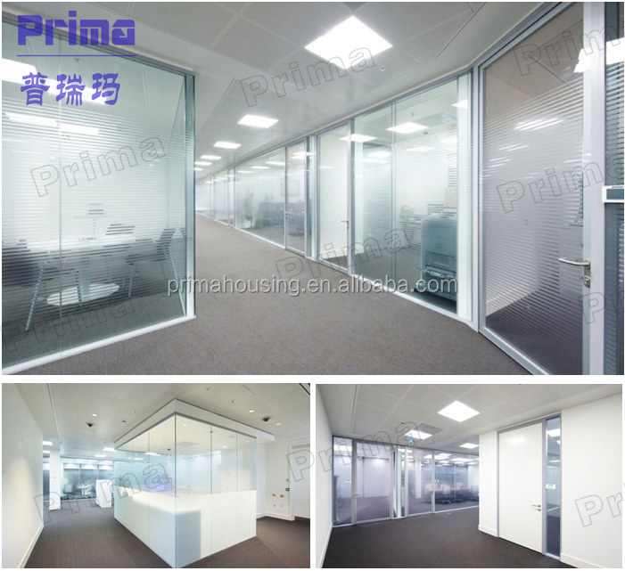 Clear Living Room Glass Partition Design Price Of Aluminum Office Wall