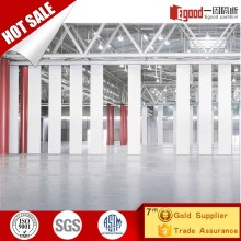 Acoustic sliding folding partition drop down room divider for shopping mall plaza