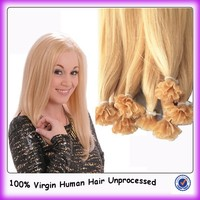 Wholesale 100% human hair extension keratin hair nail pre bonded hair