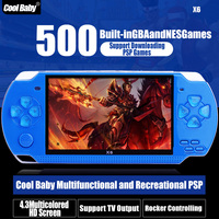 4.3 Inch screen LCD Muilt Functions Handheld Game Console Built-in 300 Games Support Downloading