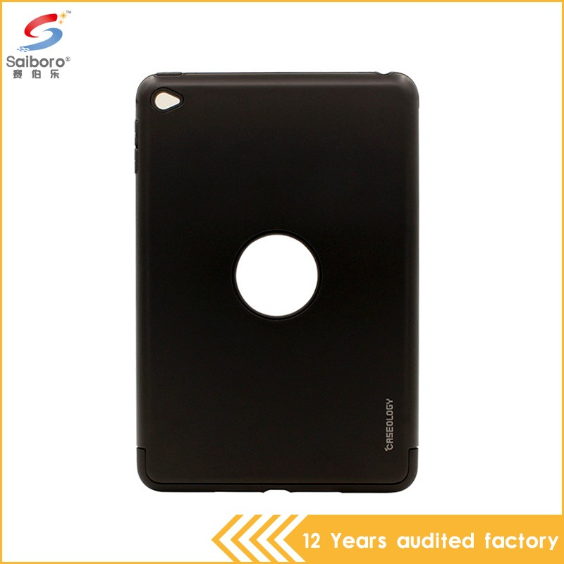 Unique design tpu pc 2 in 1 for ipad mini 4 black hard case