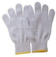 bleached white cotton gloves