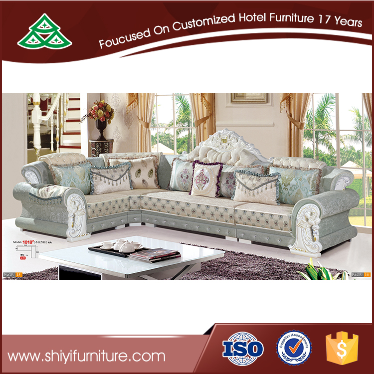 Modern design l shape sectional sofa cum bed for living room