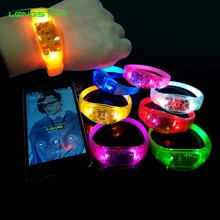 Suara Terkendali Suara LED Light Up Gelang Diaktifkan Cahaya Bangle