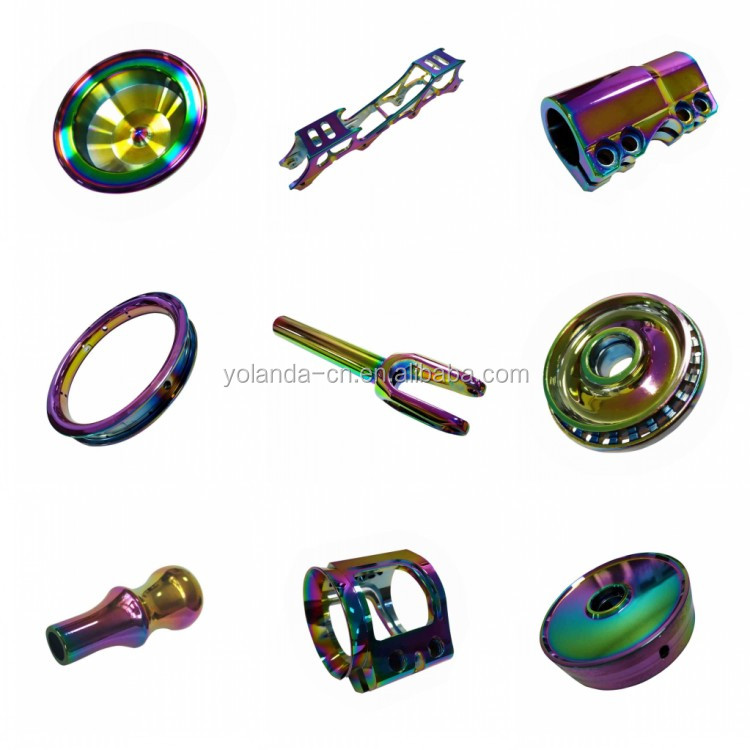 High-end Quality Metal Parts Vacuum Plating Service Custom CNC Turning Aluminum Balance Car Wheel PVD Plating Fabrication