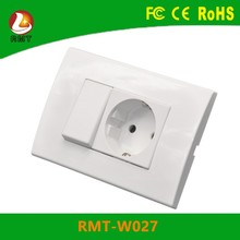Used furniture White colour alibaba europe outlet 1 gang electrical switch socket