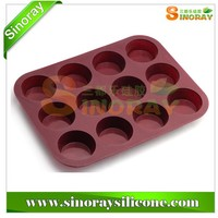 12 Cup Silicone Muffin & Cupcake Baking Pans, Non-Stick, Easy To Clean