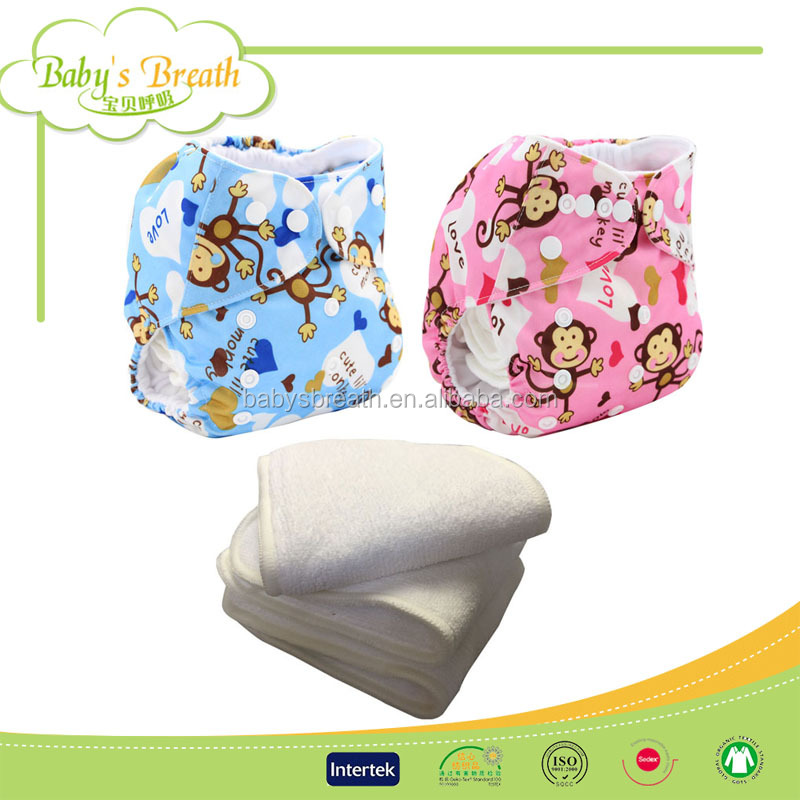 PSF215A wholesale reusable microfiber inserts baby cloth hot diaper girls pictures