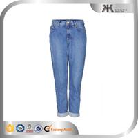 Mens 100 % cotton denim loose fit fashion bootcut jeans