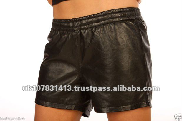 Unisex Leather Boxer Shorts French Knickers