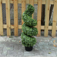 christmas ornaments 2017 cheap artificial spiral boxwood topiary trees