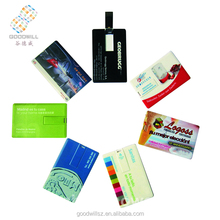 Wholesale Oem Customised Educational Branded Printing/Printable/Printed 100/125/256/500/512Mb Credit Cards Shape Usb Flash Drive