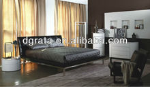 2013 bed design furniture,latest double bed designs,metal bed used stainless steel frame and PU coating to be finished