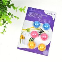 Colorful Multipurpose Adhesive Cable Clips Winder Plastic Ball Pen 4Mm