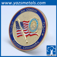 custom zinc alloy gold plated coin, personal design logo