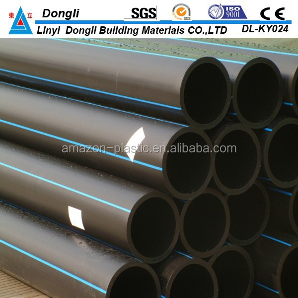 pe raw material plastic flexible pipe 200mm dongli brand