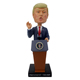 Custom made 8 inch tall polyresin donald trump bobble head