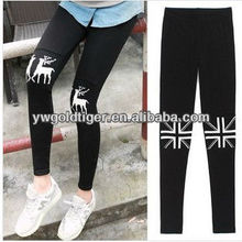 Aztec Hot Sexy Photo Nordic Mini Deer Skull Knee Tattoo Print Winter Warm Thick Knitting Women Fashion Leggings
