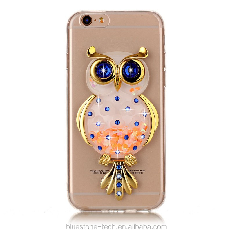 Anti-scratch mobile phone shell for iphone 6s fluid mobile phone shell transparent with holder