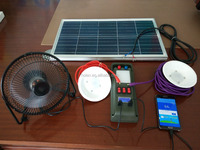 home solar system DC Portable Solar lighting system with DC fan fuction