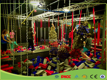 Commercial American Ninja Warrior Obstacle Course Used Trampoline Park Indoor