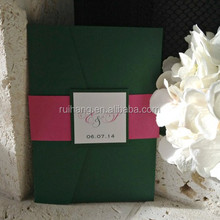 Modern Forest and Hot Pink Wedding Invitation Pocket Suite