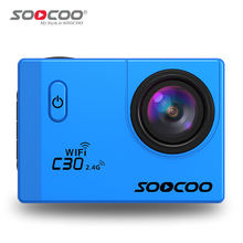 SOOCOO C30R WiFi 4K Resolution 2.4G Remote Control Supported Voice Prompt & Built-in GYRO Stabilization Waterproof Sports Camera