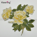 Patches Lace Fabric Flower Embroidery Patches Applique Motifs for garment accessories