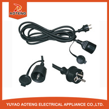 European 3 pin male to female plug socket 3x2.5mm2 power cable rubber ac power cord cable 220v