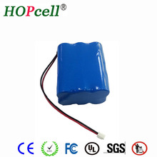 Hotsale 11.1V 6000mAh rechargeable 18650 Li-ion battery pack for bike bicycle light