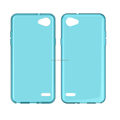 clear Transparent soft mobile phone case for LG Q6 plus Q6a tpu back cover