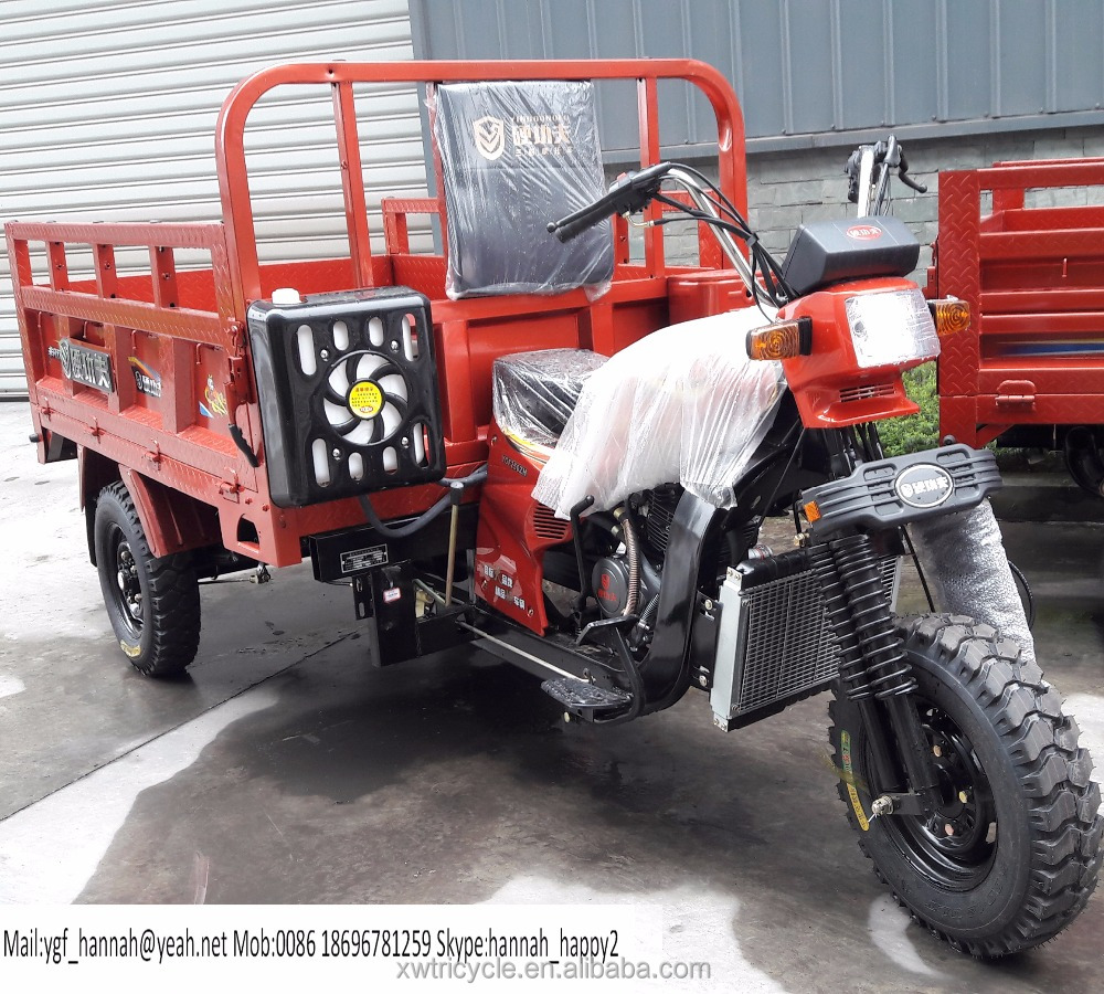 motorized driving 3 wheel motorcycle cargo truck tricycle for adult