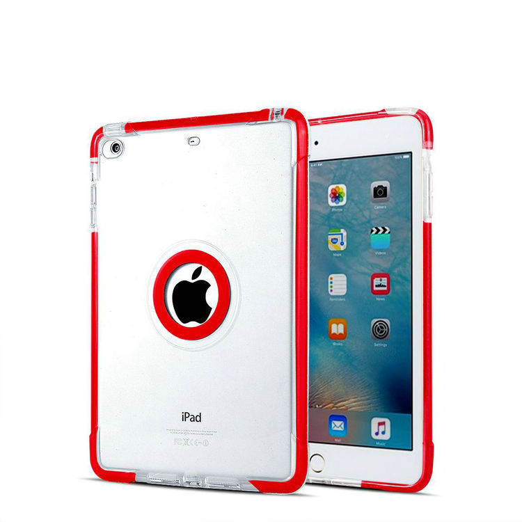 For Ipad cases and covers, 2017 Double Layer TPU+PC Armor Hybrid Combo Case for ipad MINI covers