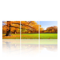 Autumn Tree Canvas Art for Home Decor/Nature Scenery Canvas Painting/Tyiptych Wall Picture