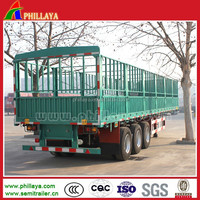 2015 new tri-axle vegetable/grain/livestock transport steel cage trailer