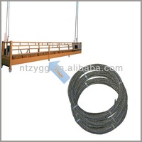 1x7 1x19 messenger wire standard electric wire and cable making equipment 6x25 steel wire rope 11mm