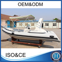 CE certified small fiberglass fishing boat with top quality for sale