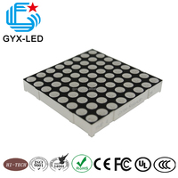 Black face white dot rgb color 5 mm diameter dot 8*8 array 6.35 mm pitch P6.35 5.1 inch 50.7*50.7 mm dot matrix LED
