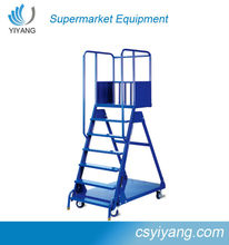 easy moving step ladder for supermarket