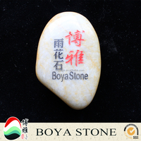 hot selling customized inspired letters mixed engraved river stone