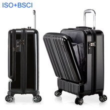 Front pocket design 100% polycarbonate PC luggage